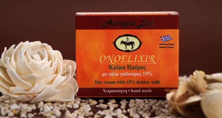 κρέμα προσώπου με γάλα γαϊδούρας onoelixir χειροποίητα καλλυντικά